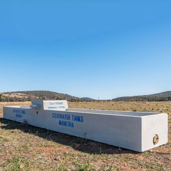 16ft-Sheep-Cattle-Concrete-Water-Trough-Double-Clear-16DSC-online