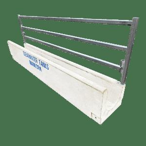 Sheep Feed Trough with Optional Fenceline Rail